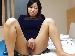 Lovely Korean wife's dirty masturbation and sex