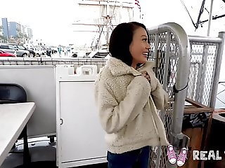 Real Teens - Tiny Asian teen Jasmine Grey POV fucking