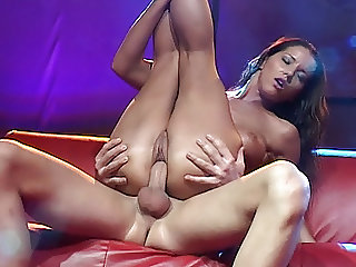 busty babe big cock fucked on public show stage