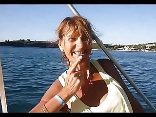in vacation on a boat near Marseille