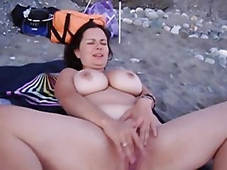 Viky Love nude on beach