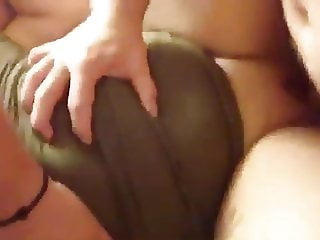 Wild young girl fucked by two men