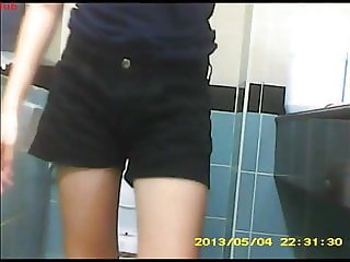 SG Toilet Voyeur 9 - Dark Blue T-Shirt + Black Shorts