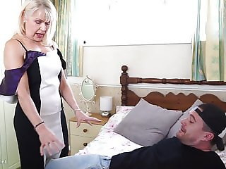 Hot granny learns new sex positions from boy