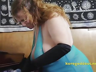 Huge breasts in tight clothes