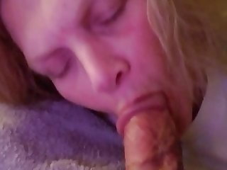 Sexymom sucking on husband friends cock while he watches