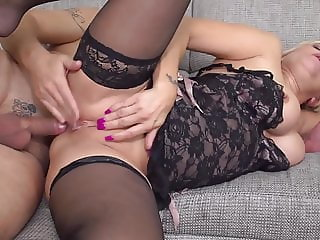 Beautiful busty mom suck and fuck daddy