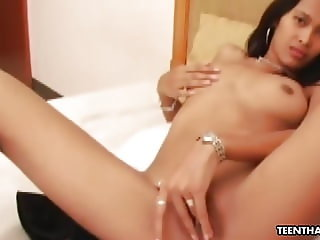 Thai brunette with a soaking wet pussy, Jessie got hammered