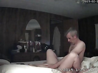 mature couple fucking in bed