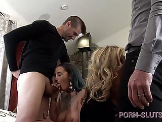 Heather C Payne Interviews Newbie Before Swinger Gangbang!