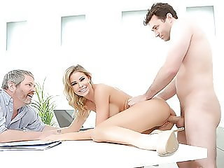 Big Tit Blonde Gets Fucked In Front Of Her Cucked Husband