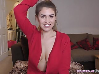 Beautiful downblouse babes unaware of their cleavage
