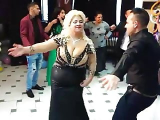 A woman with a huge bust dancing 5