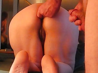my turn for ass fucking by my husband with cum in my big ass