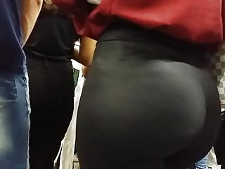 Skinny blonde with a huge ass