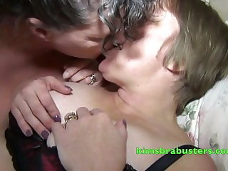 Granny Kim plays with Mature Trixie