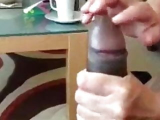 Wife jerked off bbc while watching porn