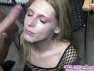 german skinny hooker make real amateur sextape with swallow