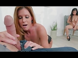 Super sweet natural tits milf doggy fucked by son