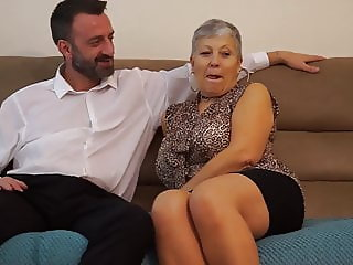 Family sex with naughty mom and grandma