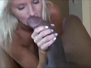 Sexy Divorced MILF Trying To Suck her First BBC
