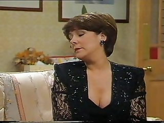 Lynda Bellingham Sexy Black Dress