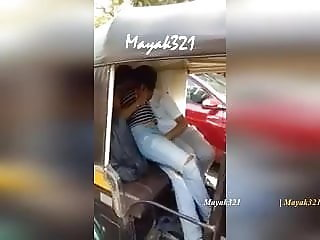 INDIAN GF AND BF FONDLING EACH OTHER IN AUTO