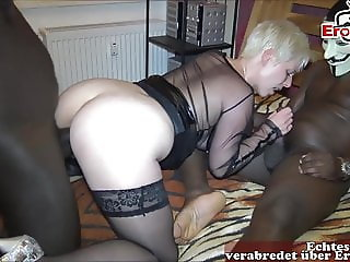 German mother DP homemade 2 monster black cocks real mom sex