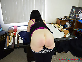 Strapped on Her Ass and Thighs! (Spanking)