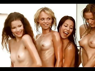 4 Teens with Nancy A -- Oiled and Dancing Nude