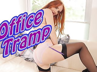 StockingVideos - Office Tramp in a tight skirt and stockings