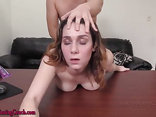 Amateur Alicia gets Anal and a Creampie at Porn Casting