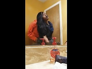 HIDDEN CAM CAUGHT WIFE GETTING FUCKED BY FRIEND IN BATHROOM