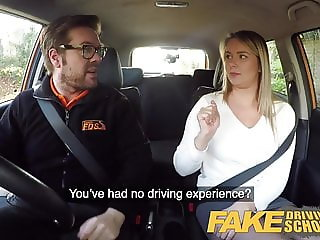 Fake Driving School Czech babe Nikky Dream orgasms