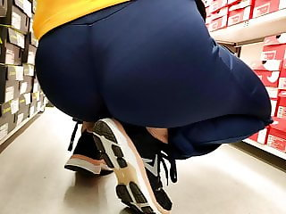 Bubble butts girl in tight sports pants