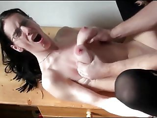 Submissive Busty Wife Hard Pounded By New Boss
