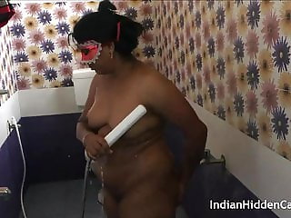 Horny Indian Aunty In Red Lingerie Juicy Pussy In Shower