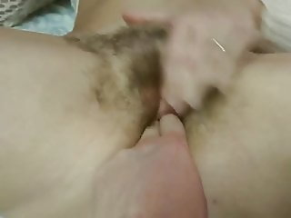 Czech hairy pussy - masturbating and orgasm compilation