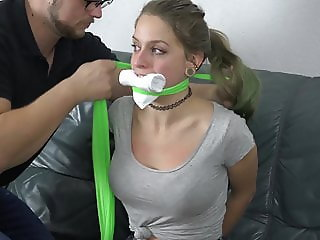 Violet Haze - Neighbour Girl Bound and Gagged PROMO