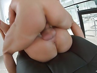 Felicia Kiss gets her holes filled up with jizz of creampie