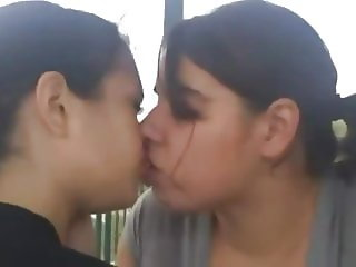 A1NYC Lesbian teen kissing homemade compilation