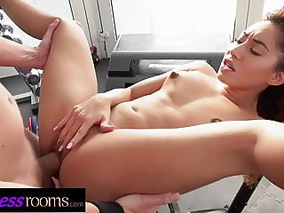 Fitness Rooms Flexible petite bubble butt babe filled up
