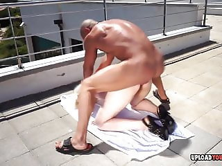 Blonde beauty gets drilled by her horny man