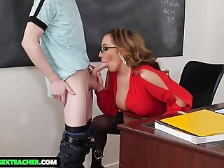 NaughtyAmerica - Richelle Ryan bangs student out after class