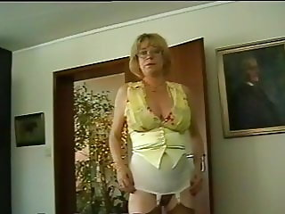 Secretary in the office girdles and stockings
