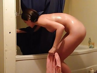 Hidden Cam Home Shower (Fit Teen)