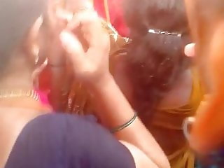 Madurai hot young tamil girl grouped in crowd with hot view