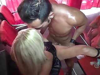 Hot Amateur Orgy with Shameless Mature MILF In Public Bar