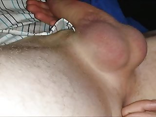 Sexy hotwife gives nice handjob with prostate massag