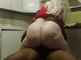 Black Hubby Trying To Fuck Divorced BBW Wife in Kitchen